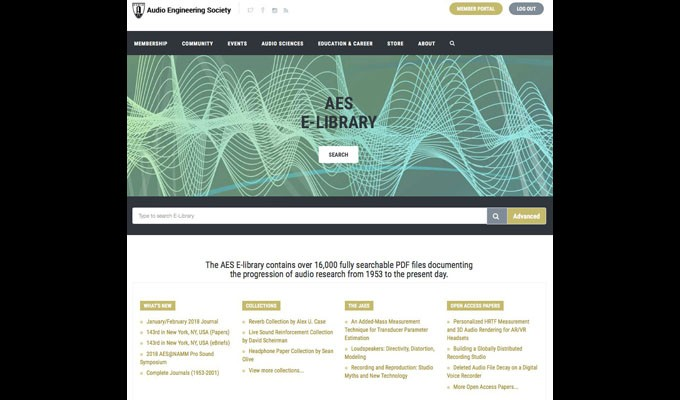 AES E-Library Subscriptions Benefit Institutions and Organizations