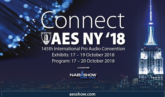 Complimentary AES New York Convention Exhibits-Plus Registration Available Through Friday, June 15