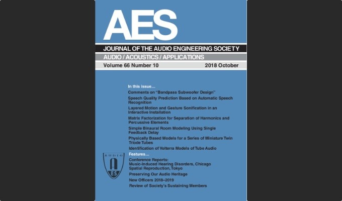 Check Out the Latest Edition of the AES Journal in the AES E-Library