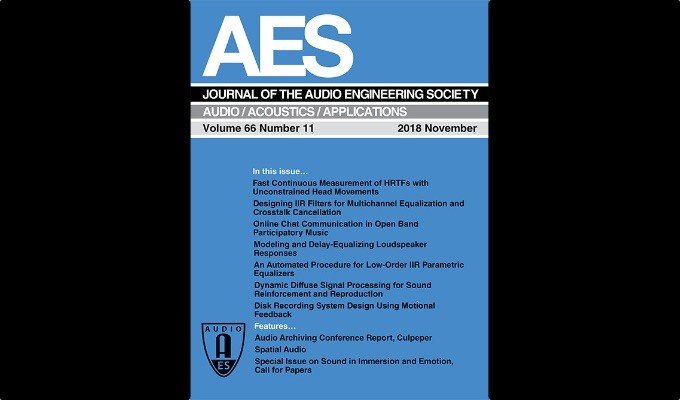 Latest AES Journal Offers Spatial Audio: Channels, Objects, and Ambisonics, Audio Archiving Conference Report, and More