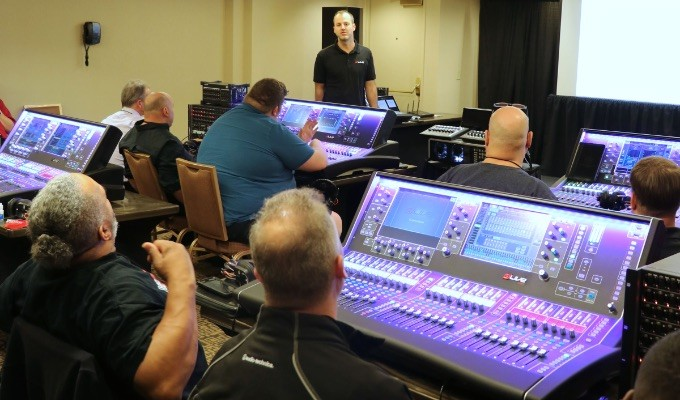 AES@NAMM Pro Sound Symposium: Live & Studio Hands-On Training Academy Events Offer Line Array Loudspeaker Systems and Live Mixing Console Experiences