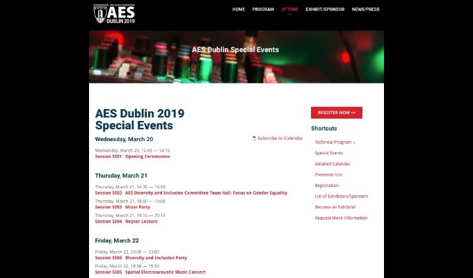 AES Dublin Offers Exclusive Experiences with Special Events and Offsite Technical Tours