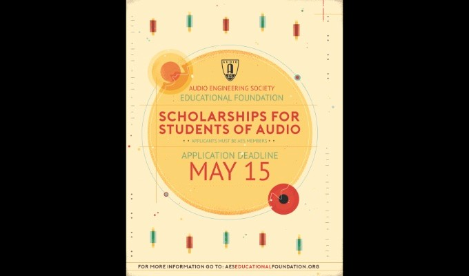 Audio Engineering Society Educational Foundation Accepting Applications for Grants and Scholarships