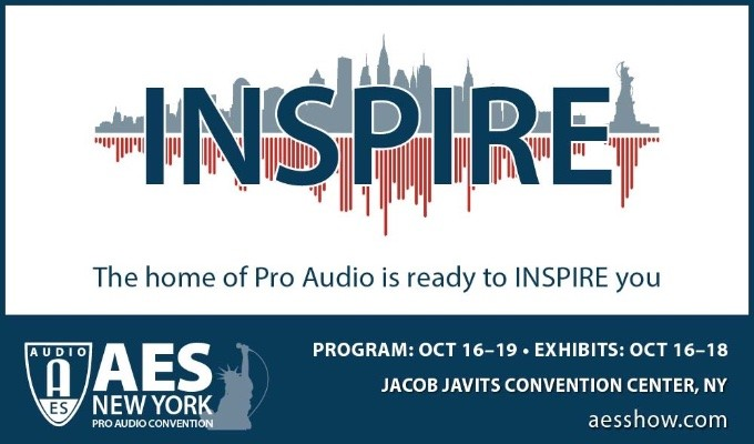 Register Now for the AES New York Pro Audio Convention 2019