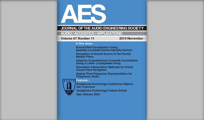 Read the Latest Edition of the AES Journal