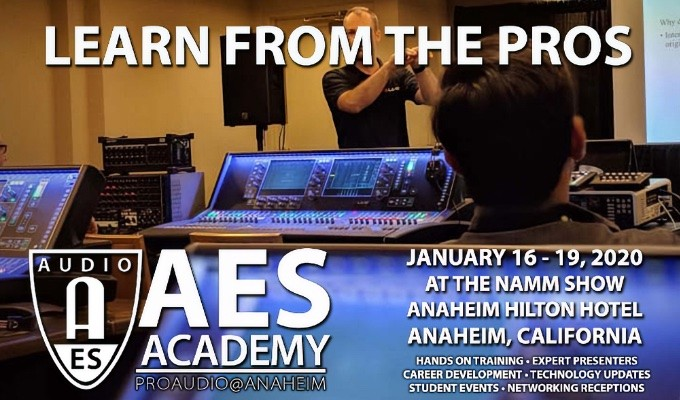 AES Academy 2020 Begins January 16 - Register Now!