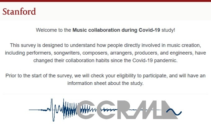 AES Members: Take Part in the Stanford University's Music Engagement Research Initiative (MERI) Study on Music Collaboration During the Covid-19 Pandemic