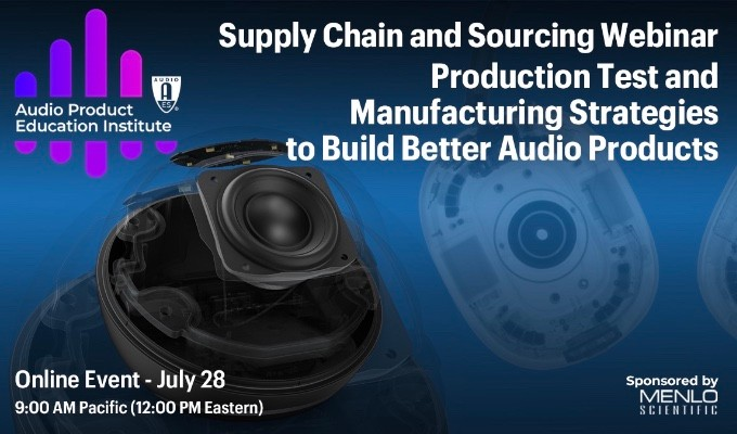 New AES APEI Webinar to Focus on Audio Product Test and Manufacturing Strategies