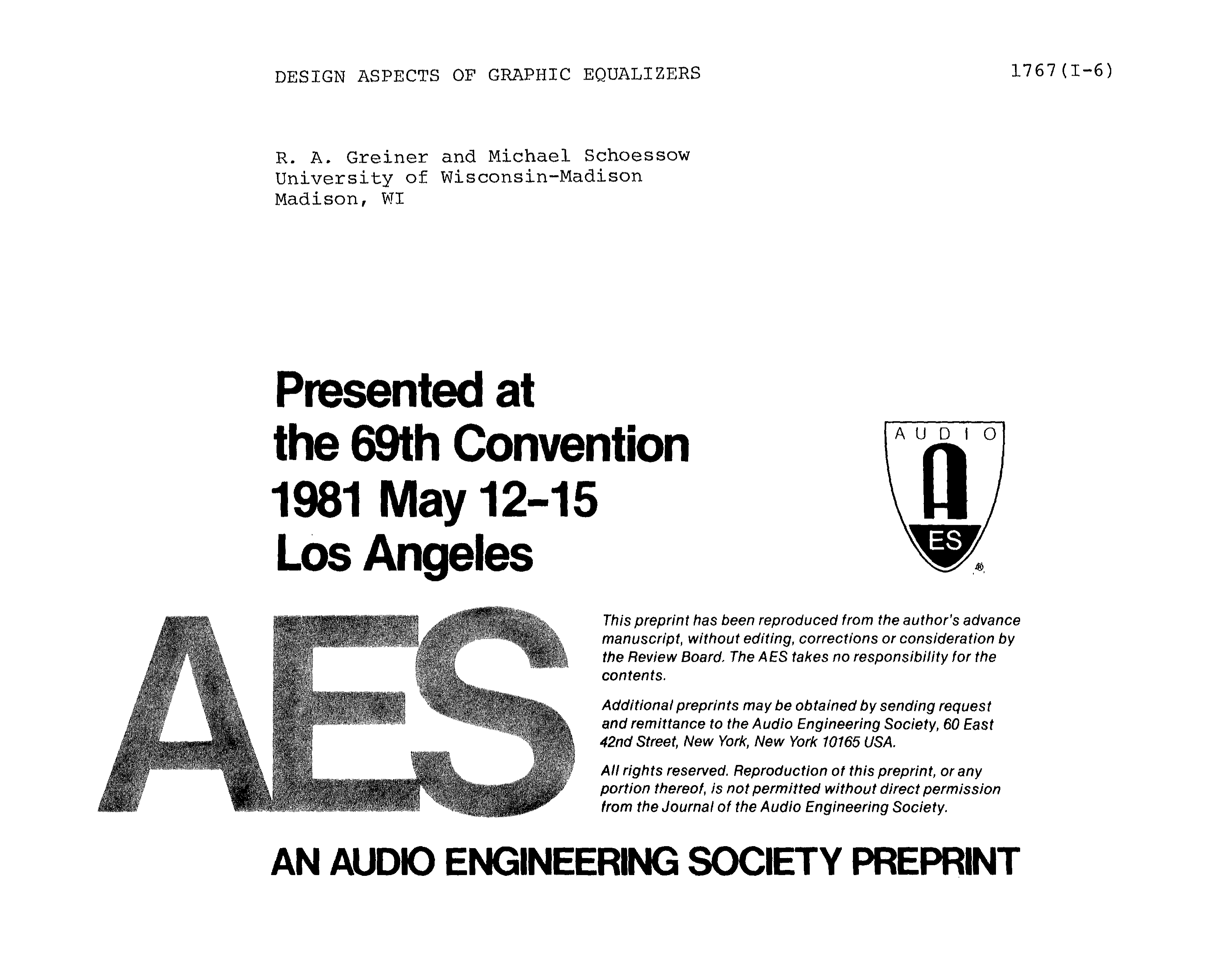 Aes E Library Design Aspects Of Graphic Equalizers 5 Band Equaliser Circuit Diagram