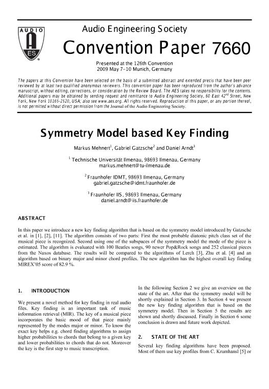 AES E-Library » Symmetry Model Based Key Finding