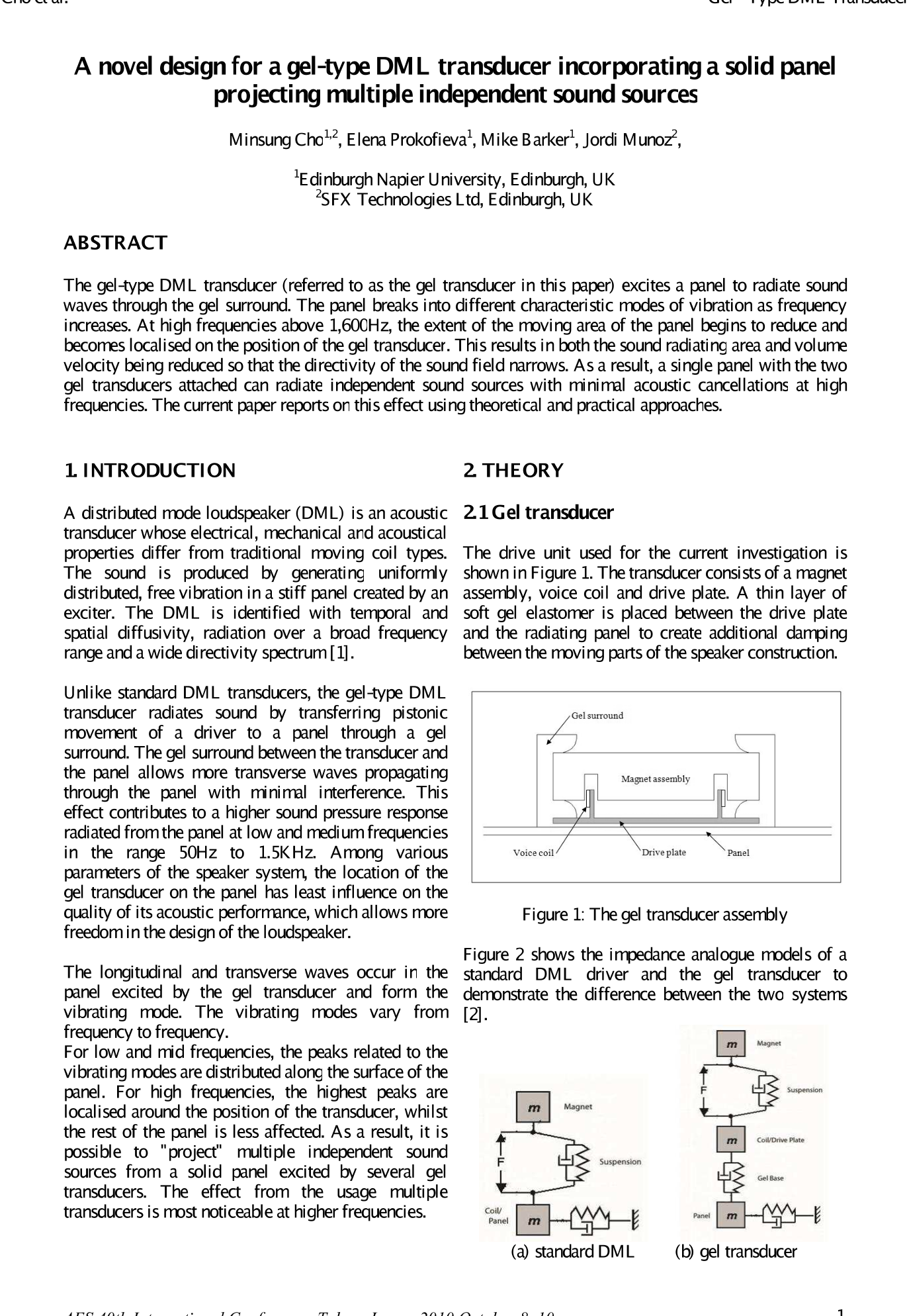 AES E-Library » A Novel Design for a Gel-Type DML Transducer