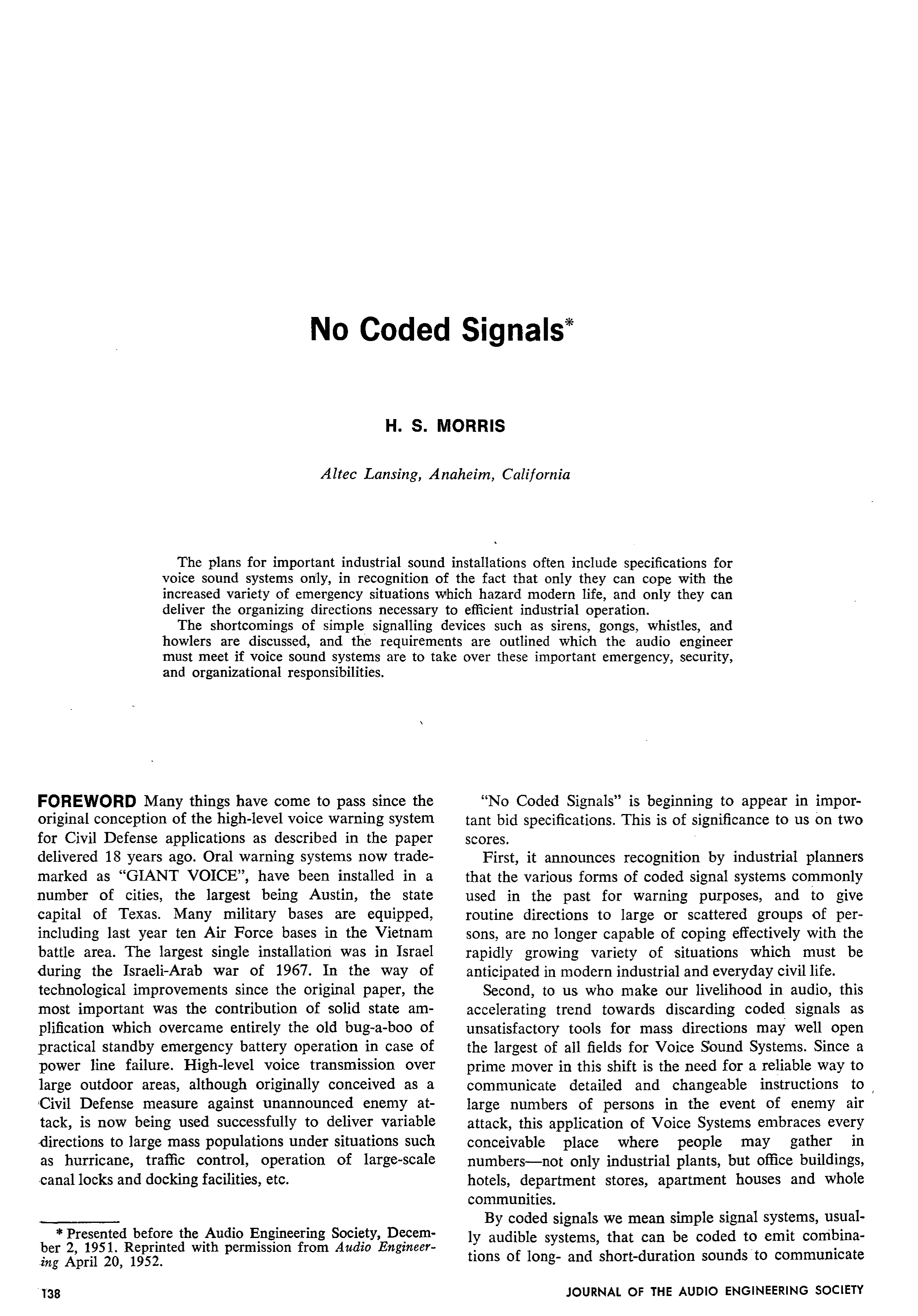 Aes E Library No Coded Signals Turnsignal Systems