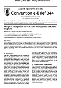 aes engineering briefs forum design of an algorithm for vst audio design of an algorithm for vst audio mixing based on gibson diagrams