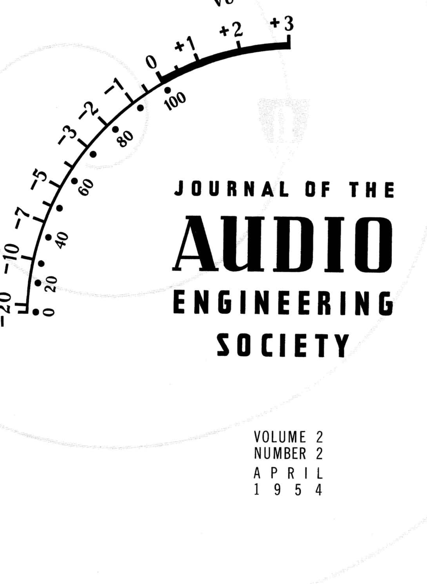 AES E-Library » Complete Journal: Volume 2 Issue 2
