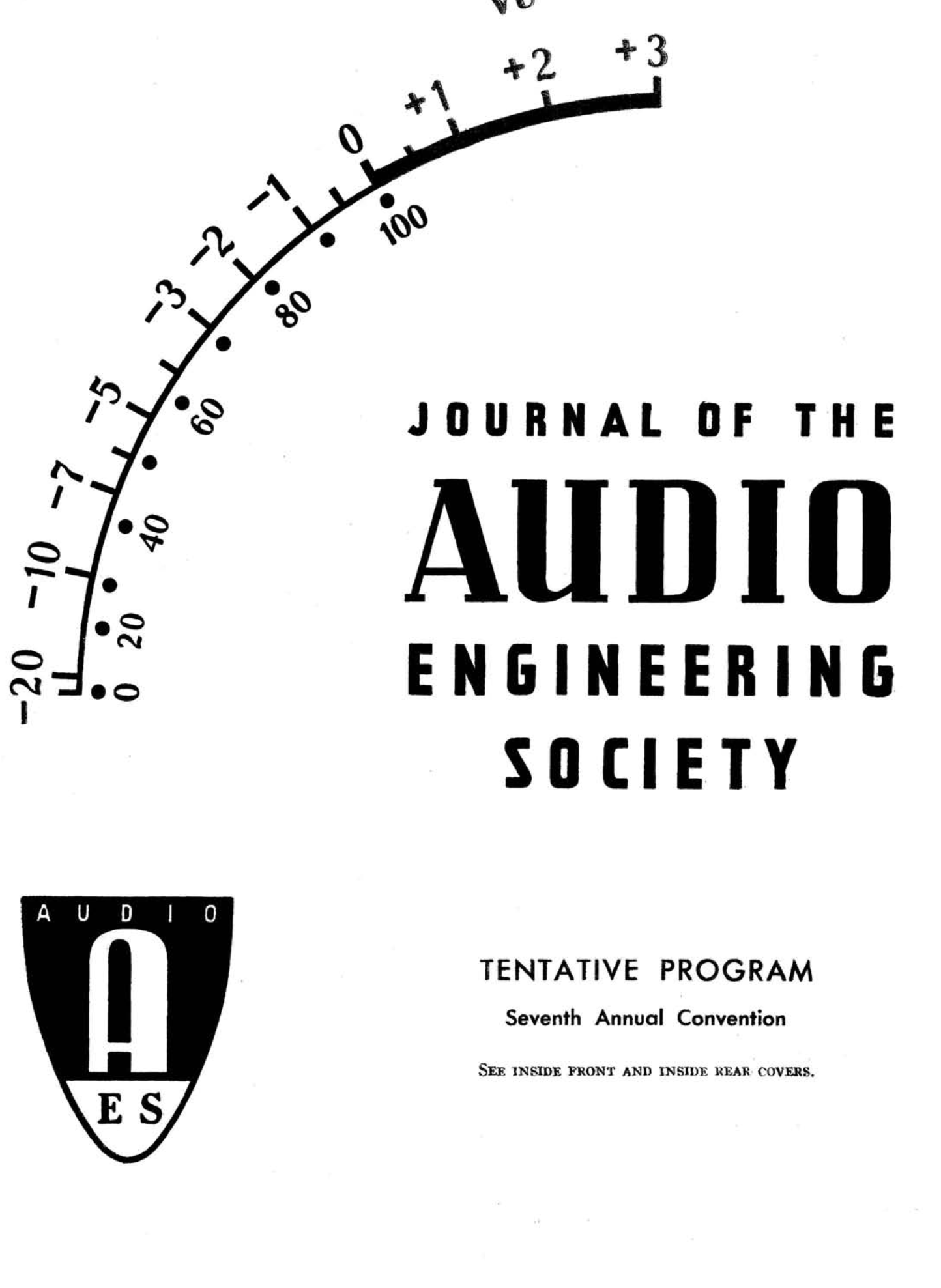 AES E Library » Complete Journal: Volume 3 Issue 2
