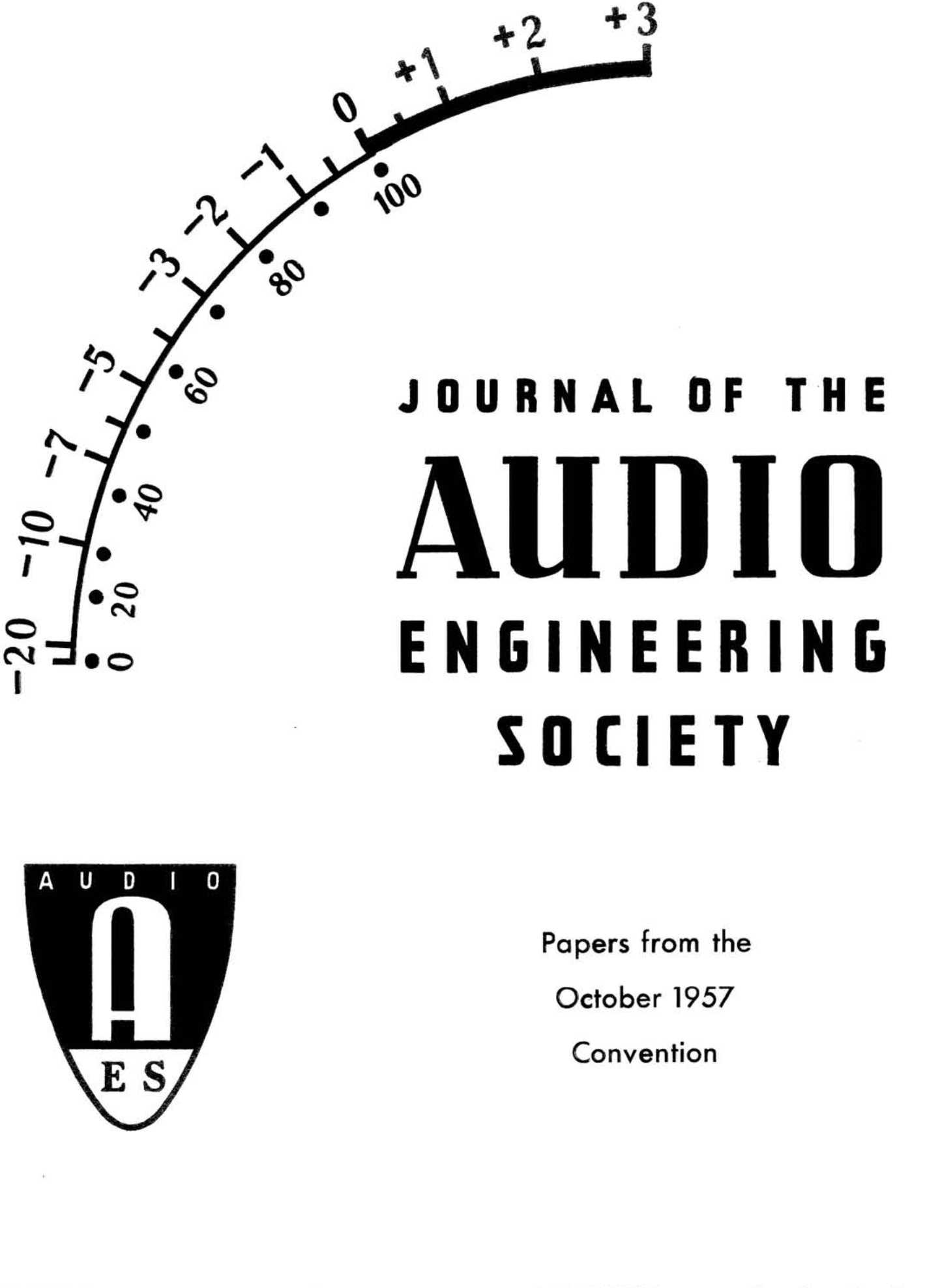 AES E-Library » Complete Journal: Volume 6 Issue 1