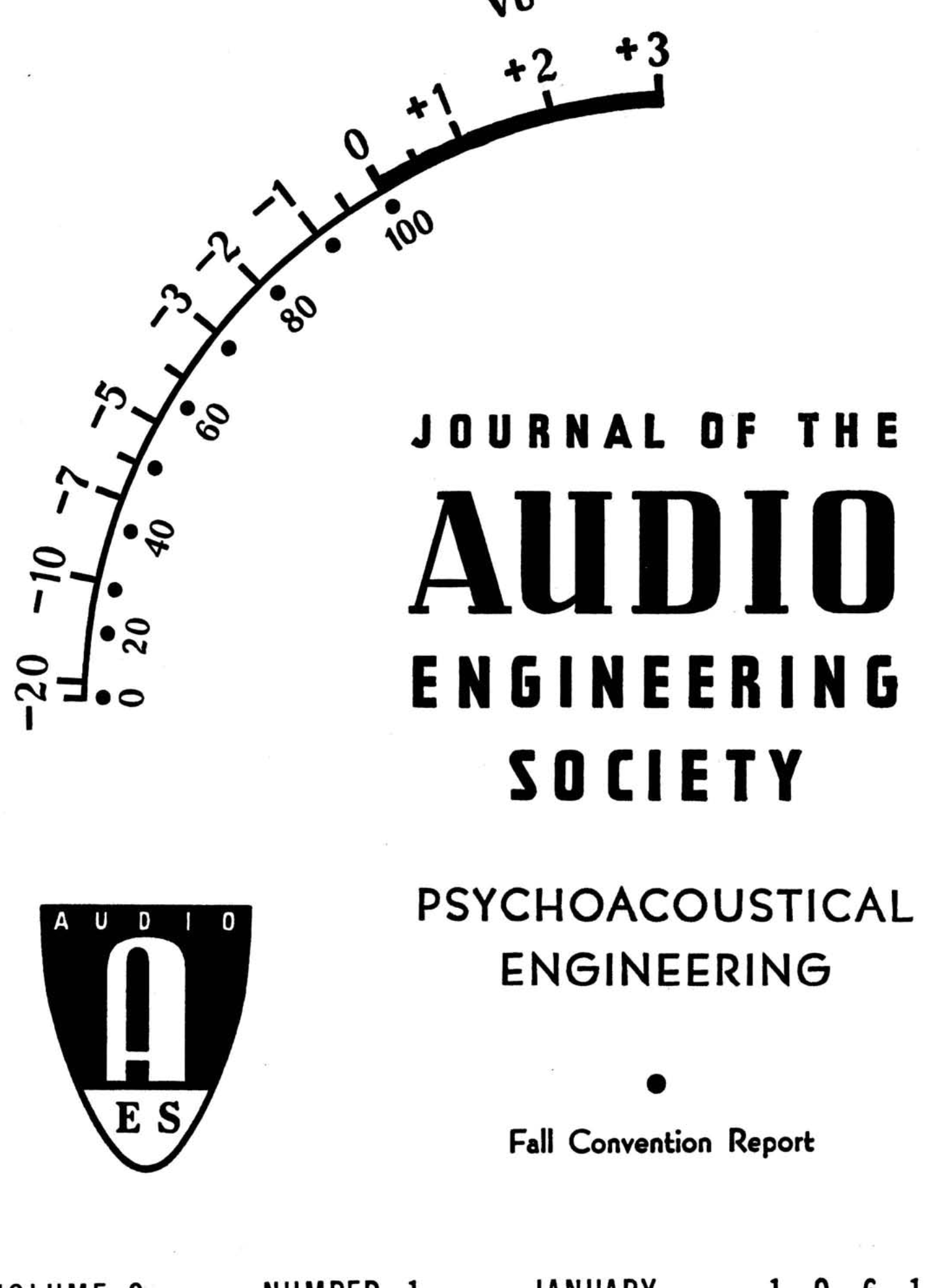 AES E-Library » Complete Journal: Volume 9 Issue 1