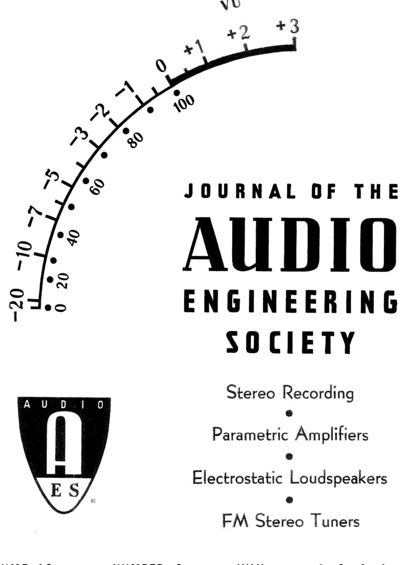 AES E Library plete Journal Volume 12 Issue 3