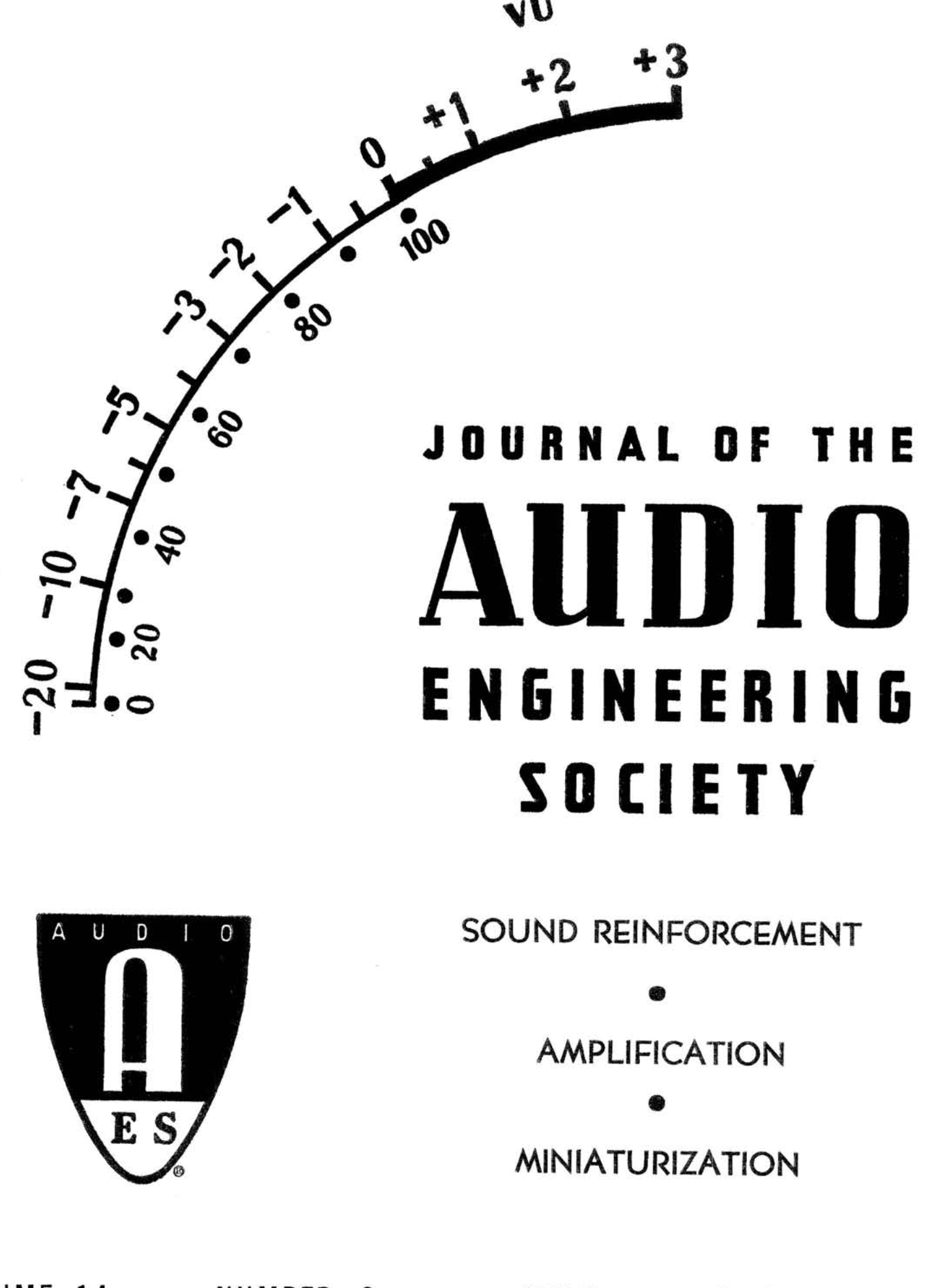 AES E-Library » Complete Journal: Volume 14 Issue 2