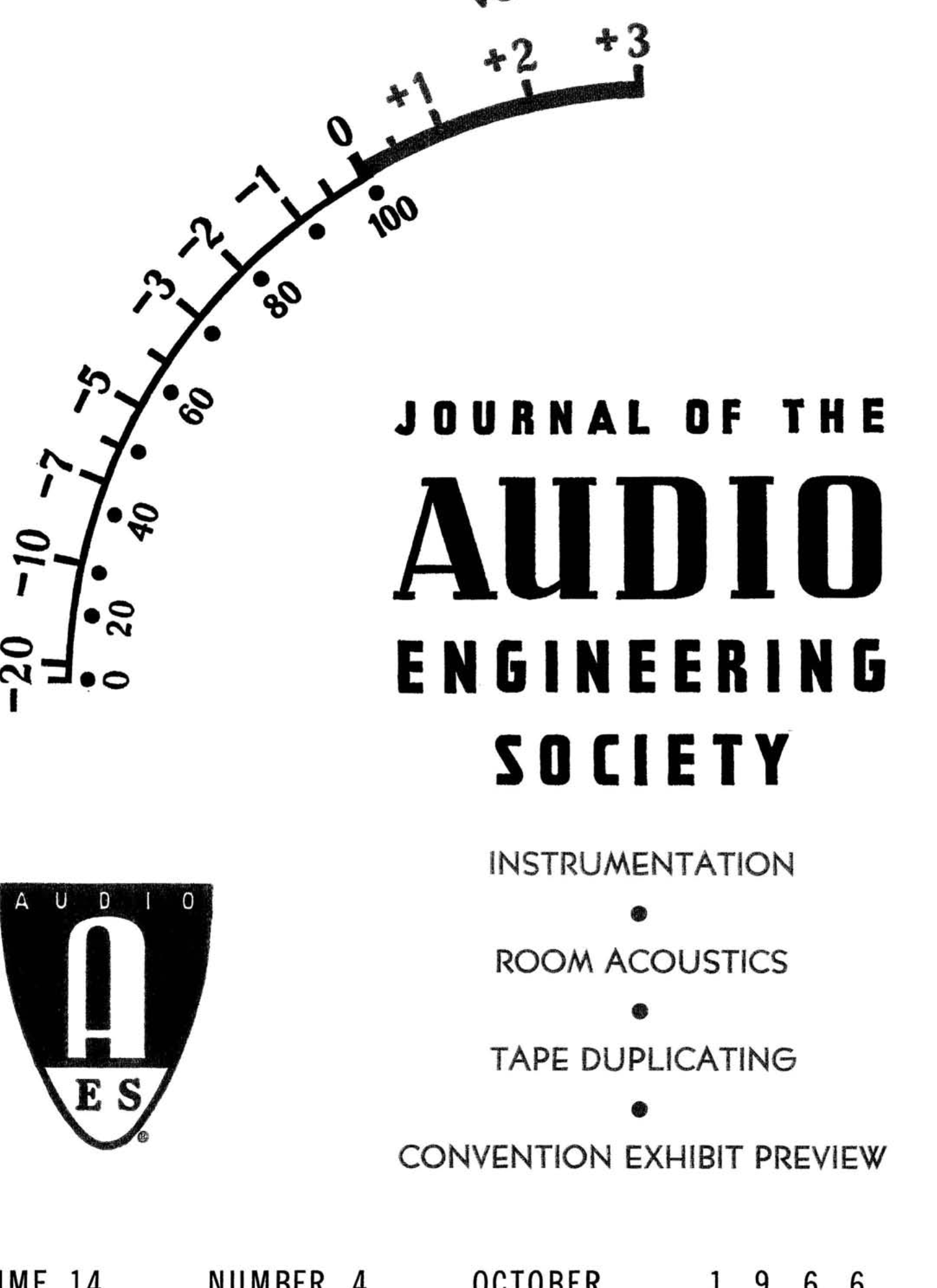 Aes E Library Complete Journal Volume 14 Issue 4 Range Fm Transmitter Circuit Diagram On Sony Headphone Wiring