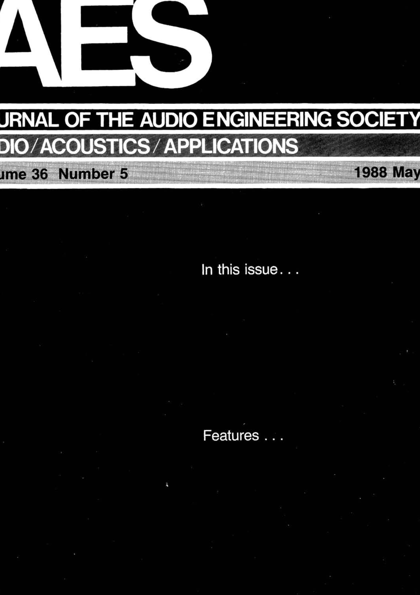 7b1f5a36b69e AES E-Library » Complete Journal: Volume 36 Issue 5