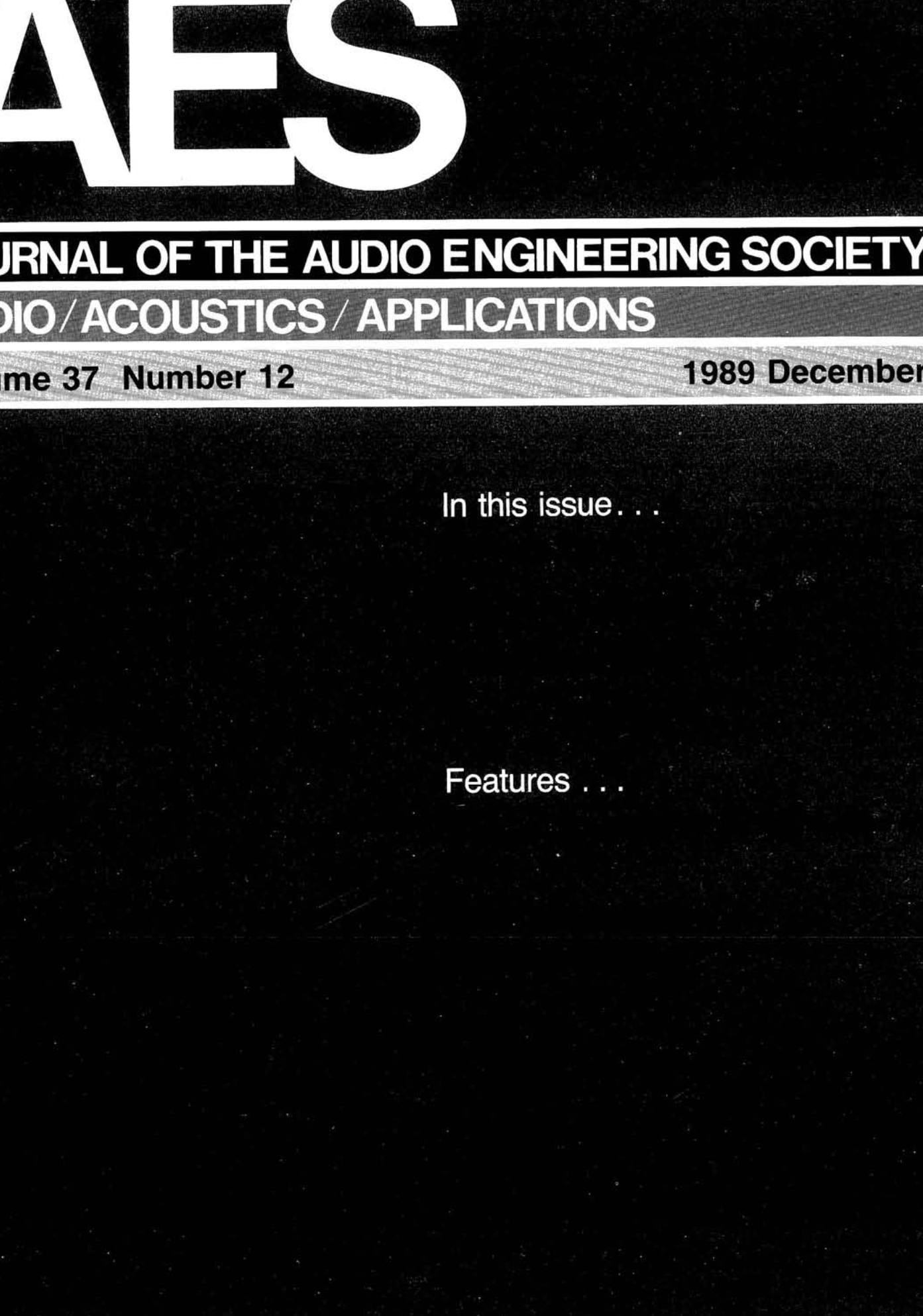 3305cf0c94d AES E-Library » Complete Journal  Volume 37 Issue 12