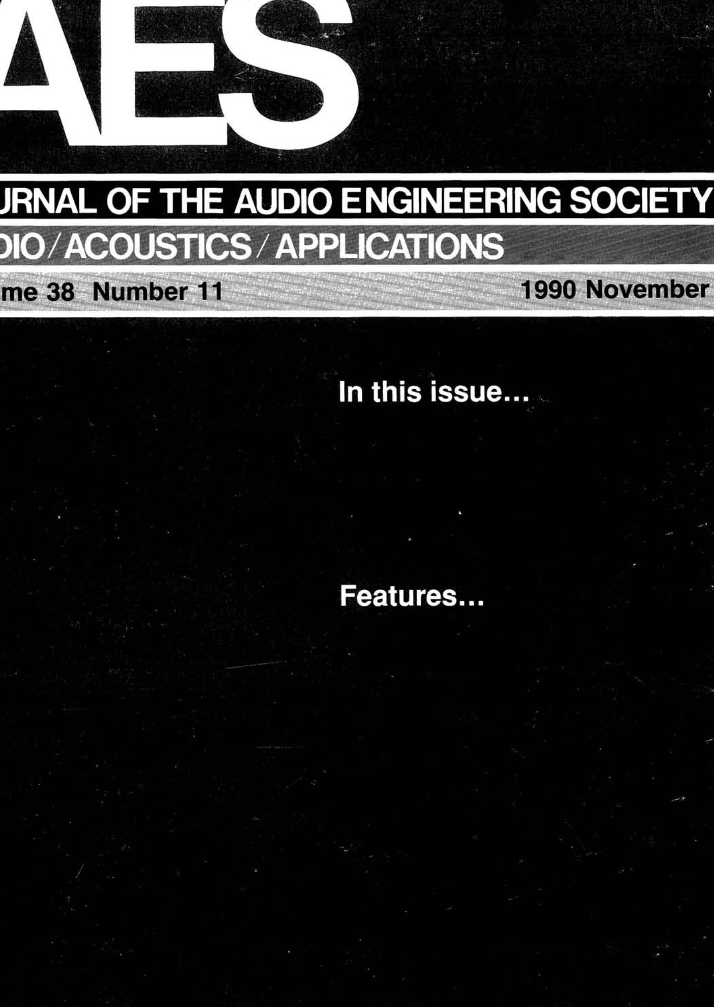 AES E-Library » Complete Journal: Volume 38 Issue 11