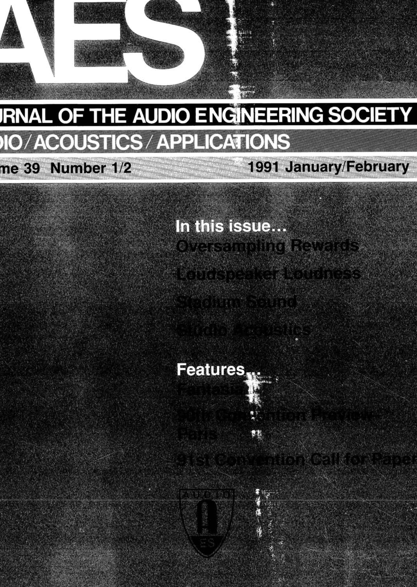 AES E-Library » Complete Journal: Volume 39 Issue 1/2