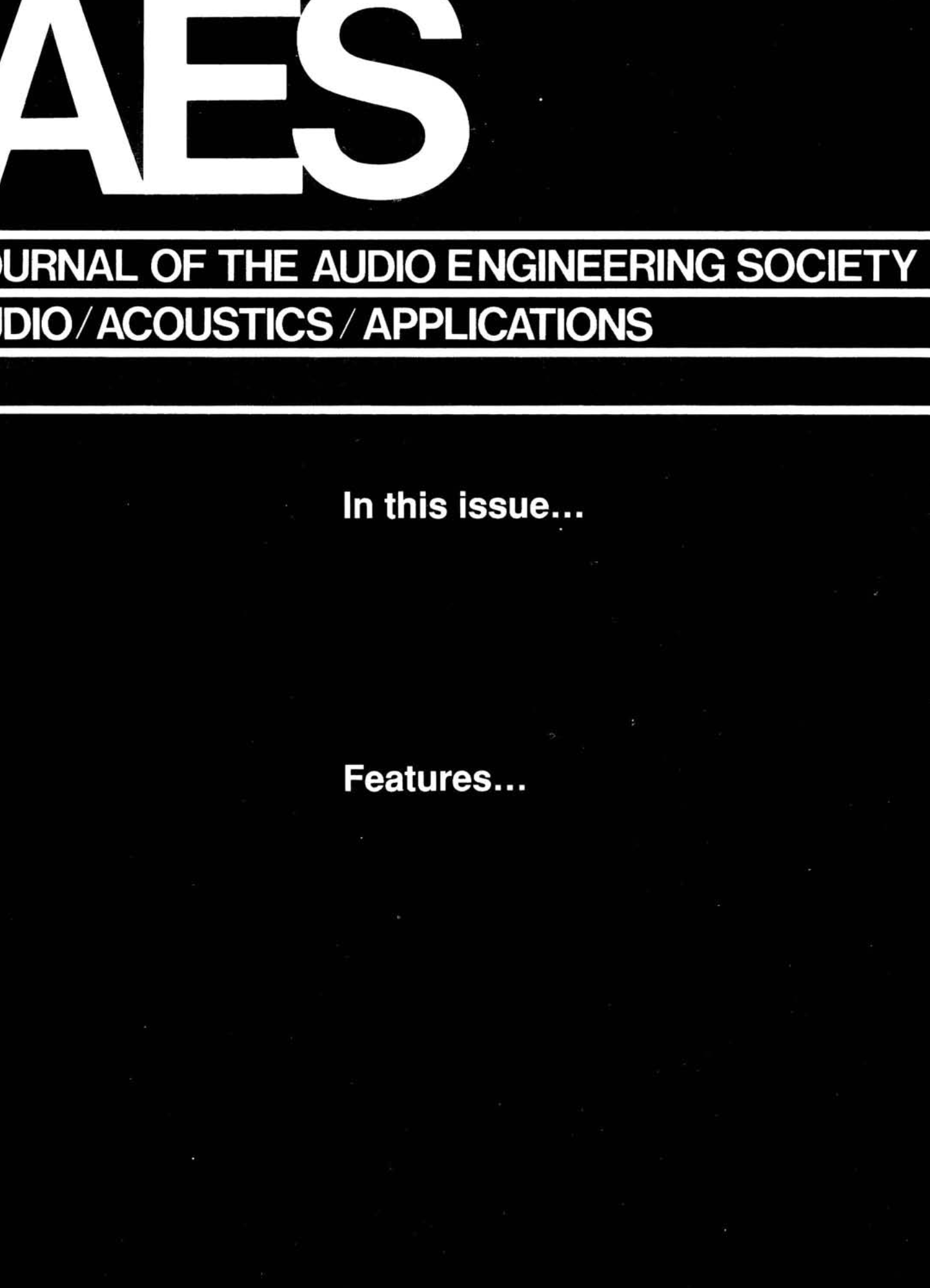 AES E-Library » Complete Journal: Volume 40 Issue 5