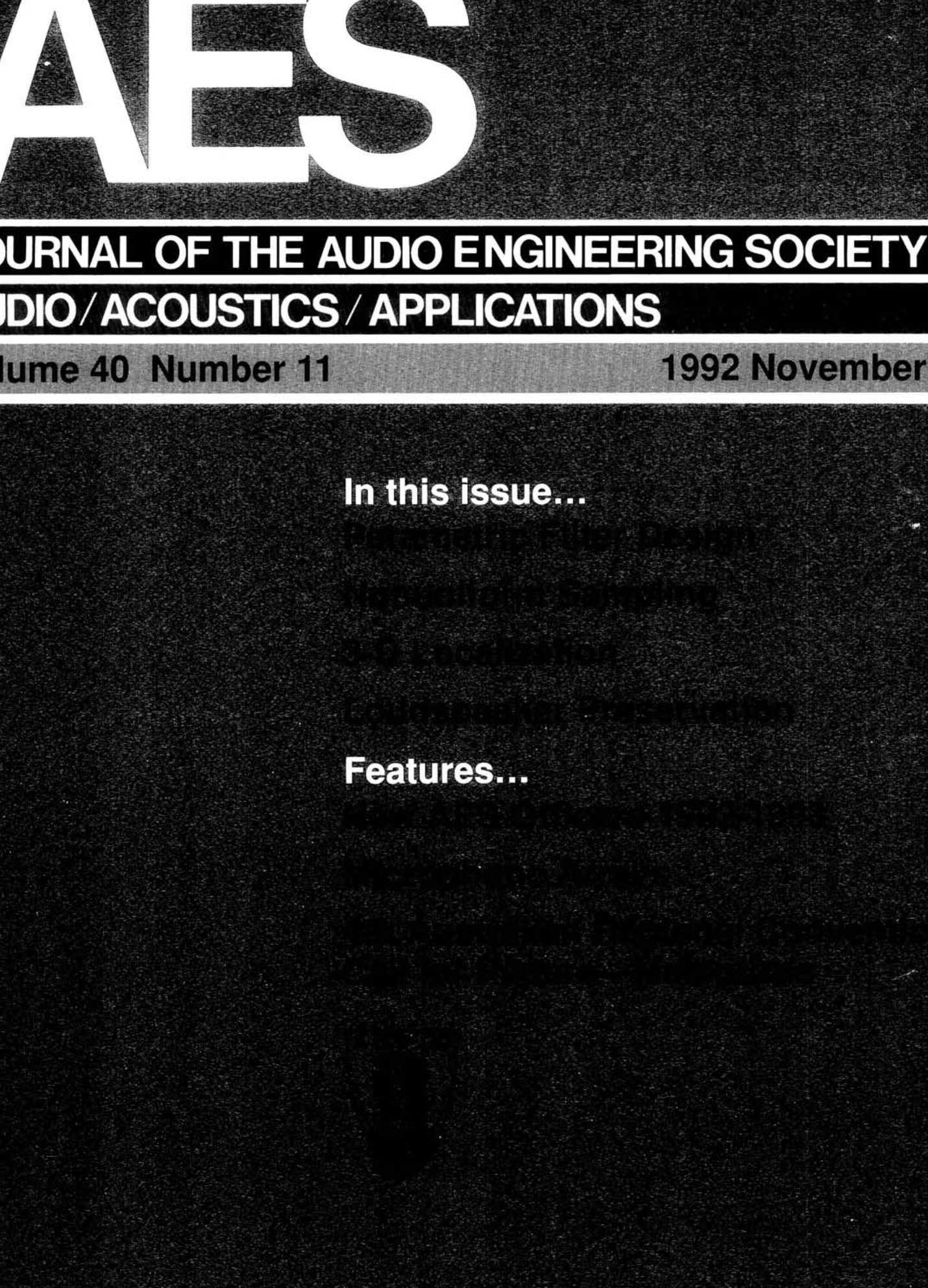 Aes E Library Complete Journal Volume 40 Issue 11 3516 Caterpillar Wiring Diagrams