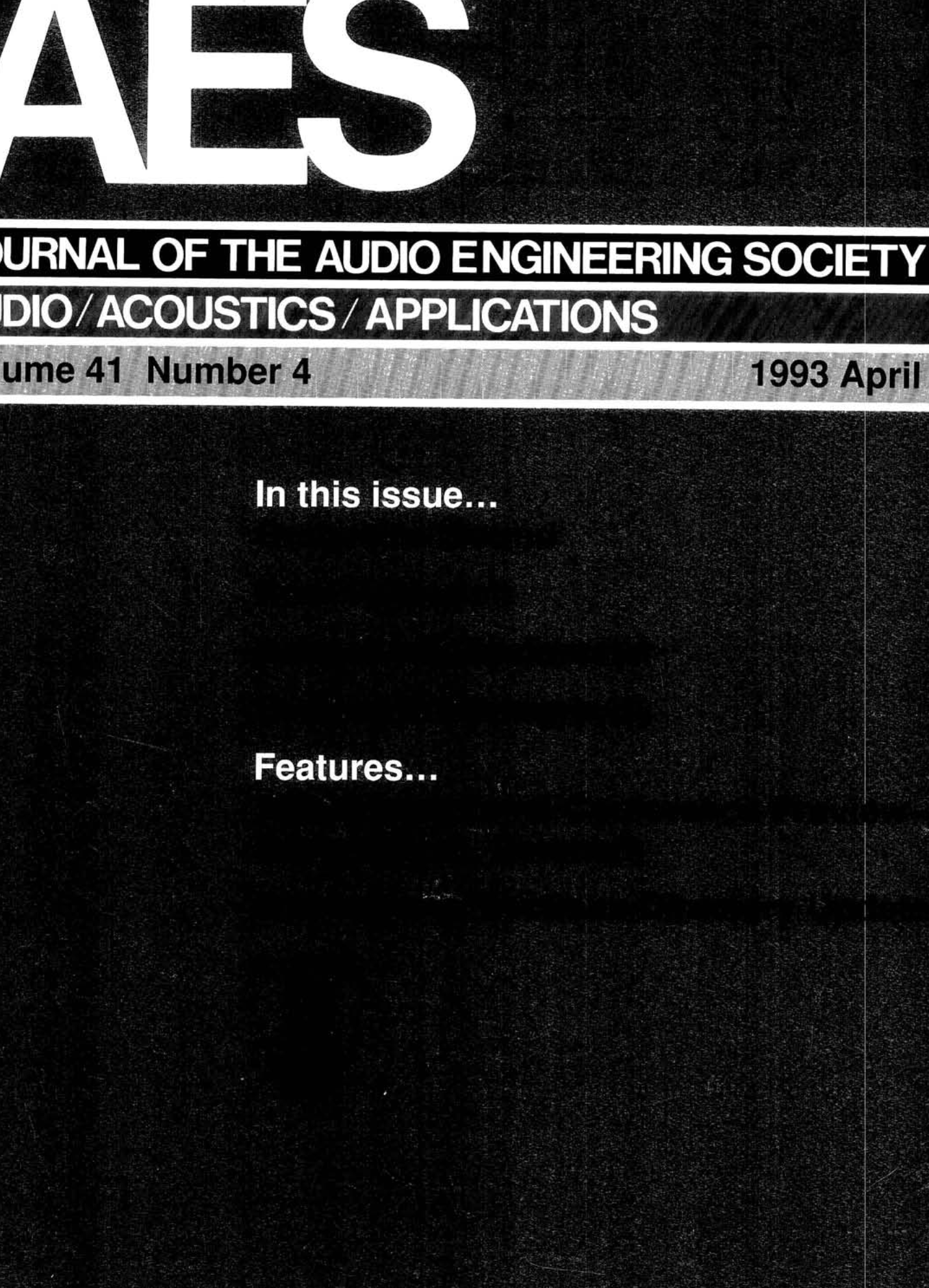 Aes E Library Complete Journal Volume 41 Issue 4 For Diagram Door Wiring Opener Pv 612