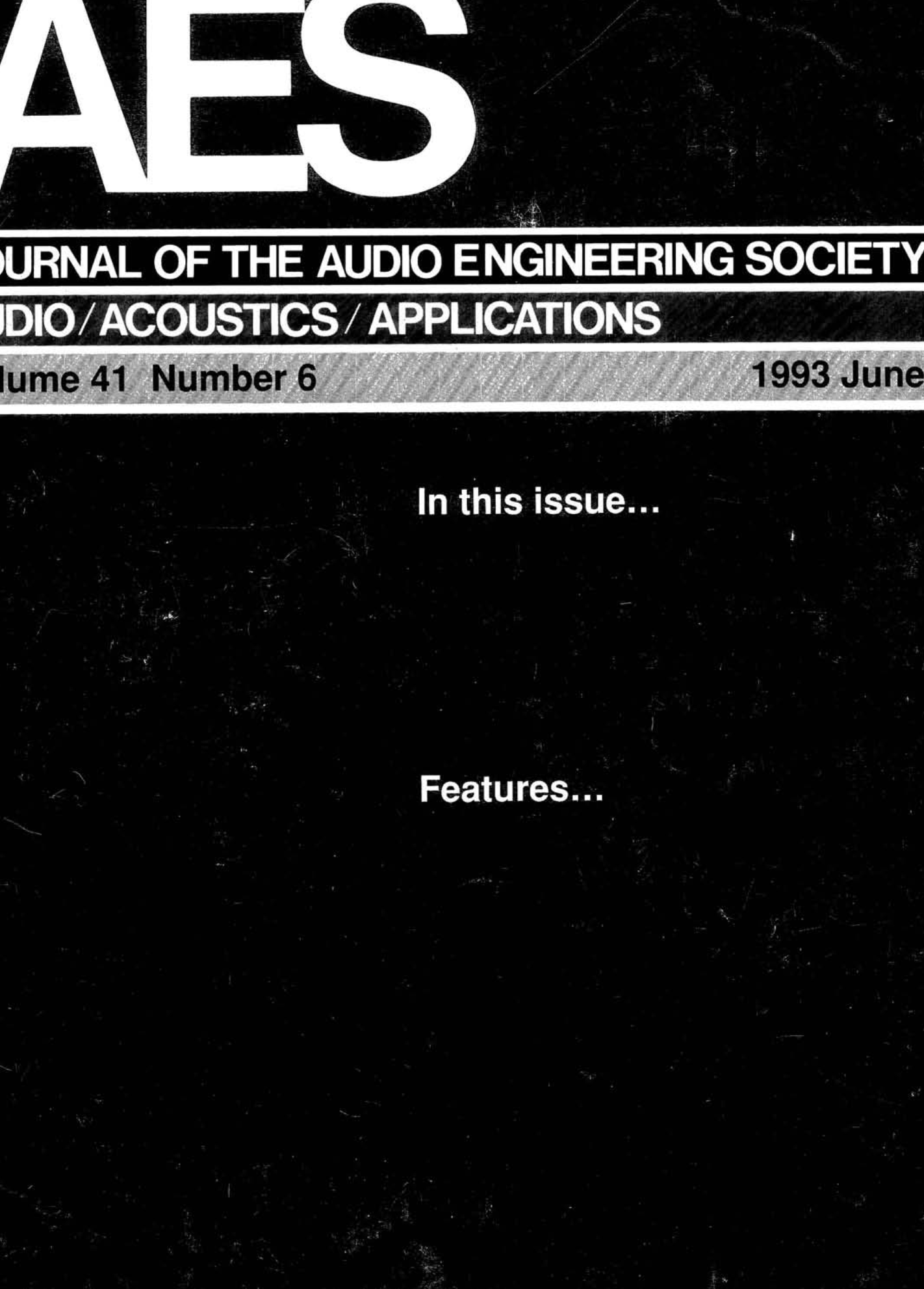 AES E-Library » Complete Journal: Volume 41 Issue 6
