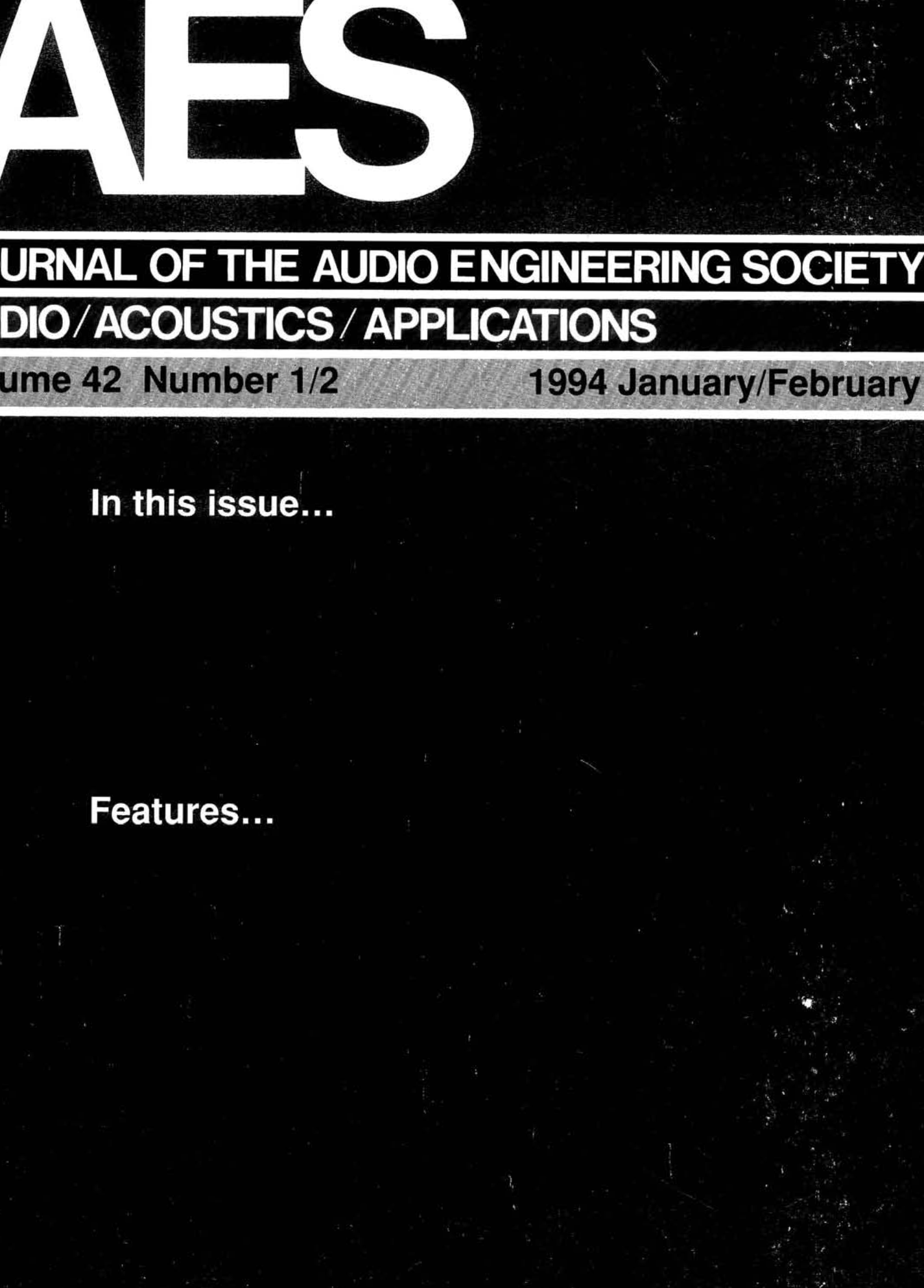 Aes e library complete journal volume 42 issue 12 pooptronica Images