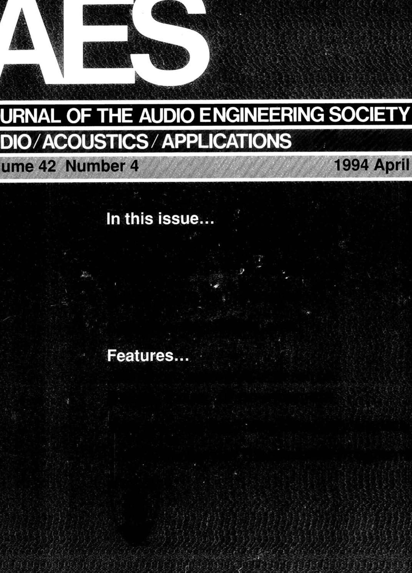AES ELibrary Complete Journal Volume 42 Issue 4