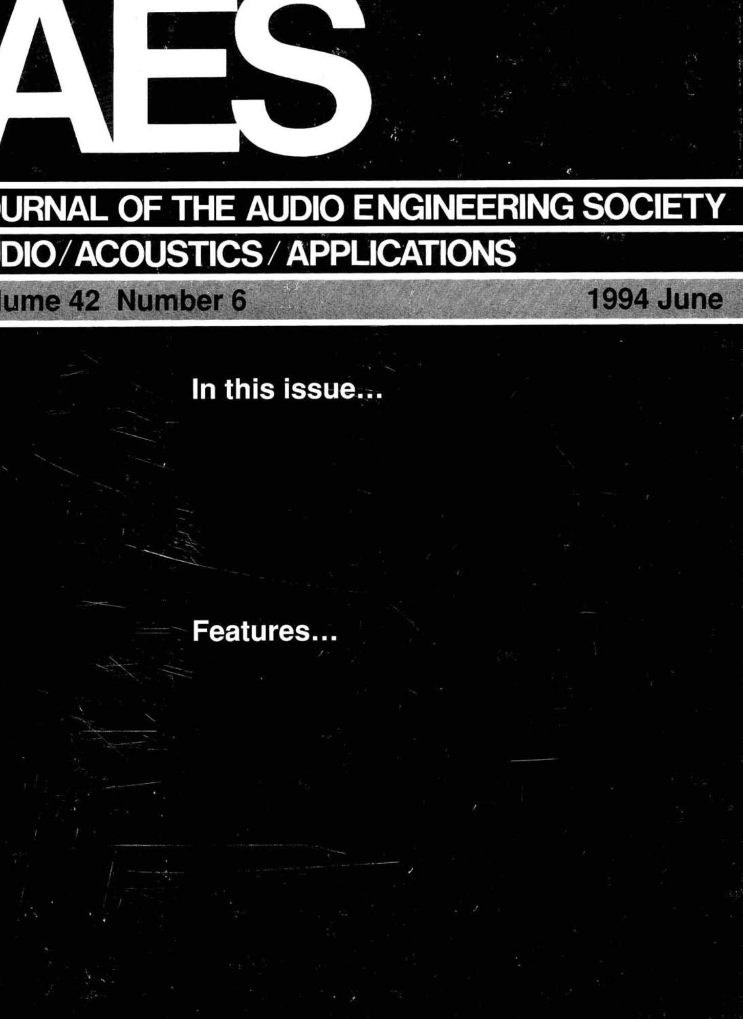 AES E-Library » Complete Journal: Volume 42 Issue 6