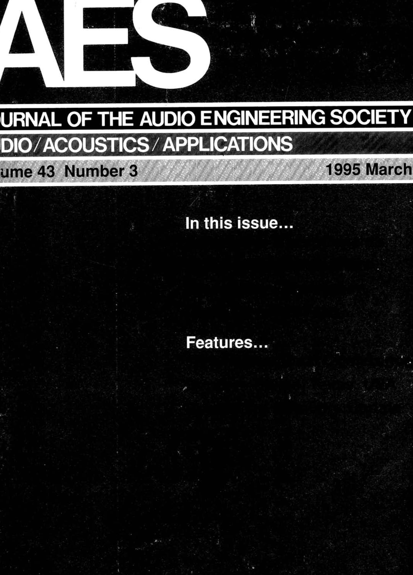Aes E Library Complete Journal Volume 43 Issue 3 Kirby On Off Switch Wiring Diagram Central