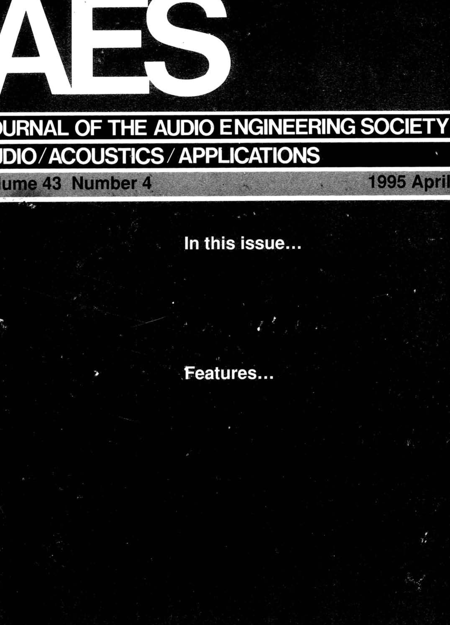 AES E-Library » Complete Journal: Volume 43 Issue 4