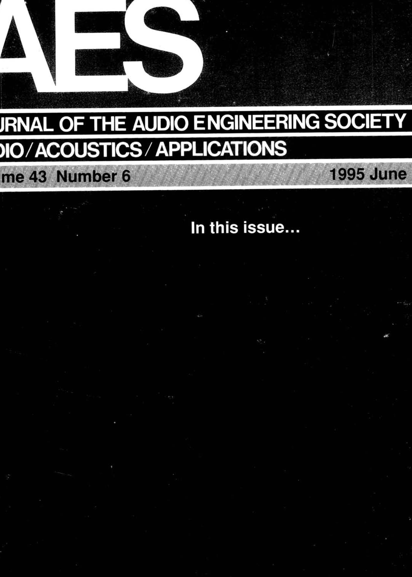 Aes E Library Complete Journal Volume 43 Issue 6 Axl Bass Wiring Diagram