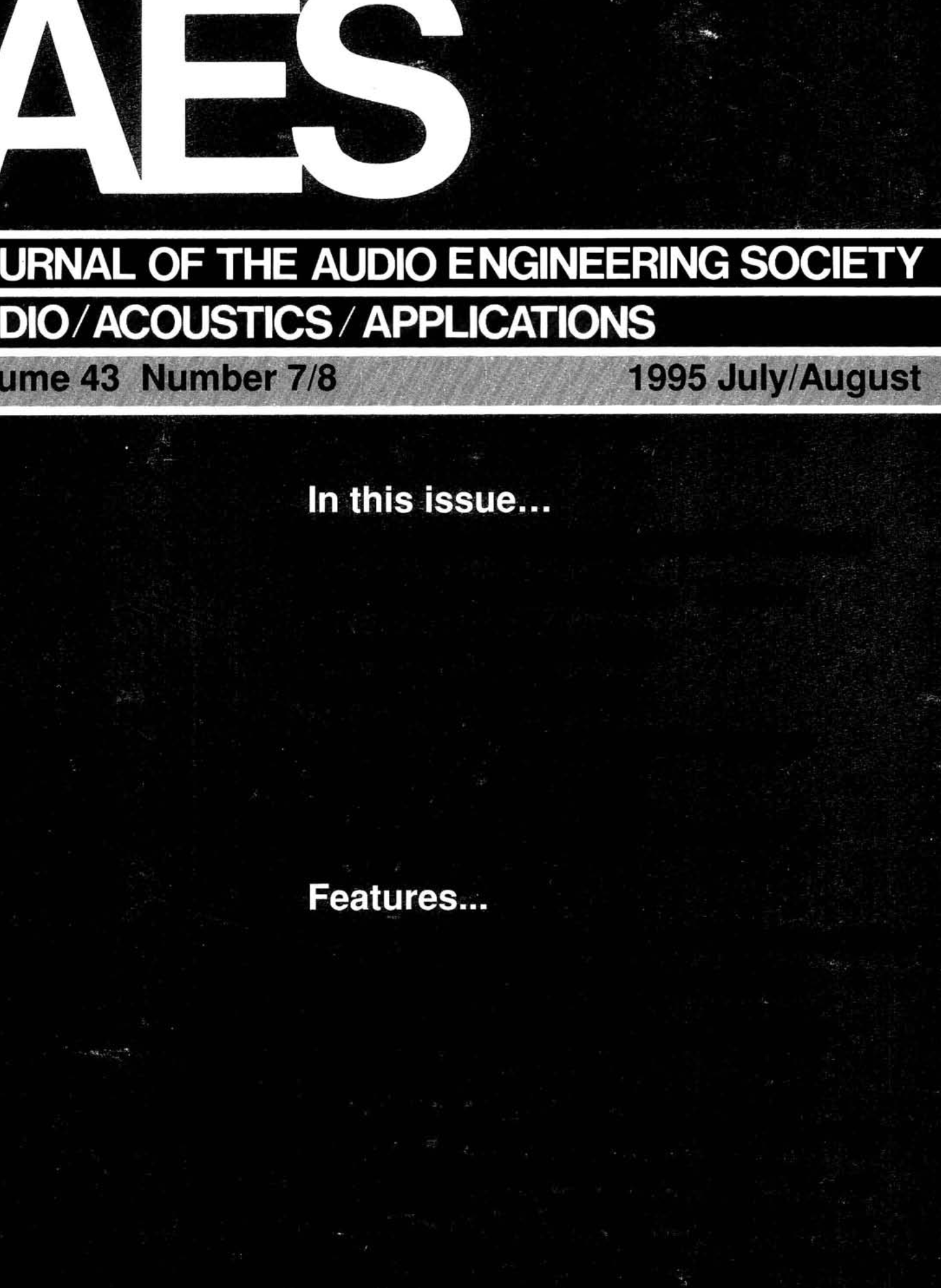 AES E-Library » Complete Journal: Volume 43 Issue 7/8