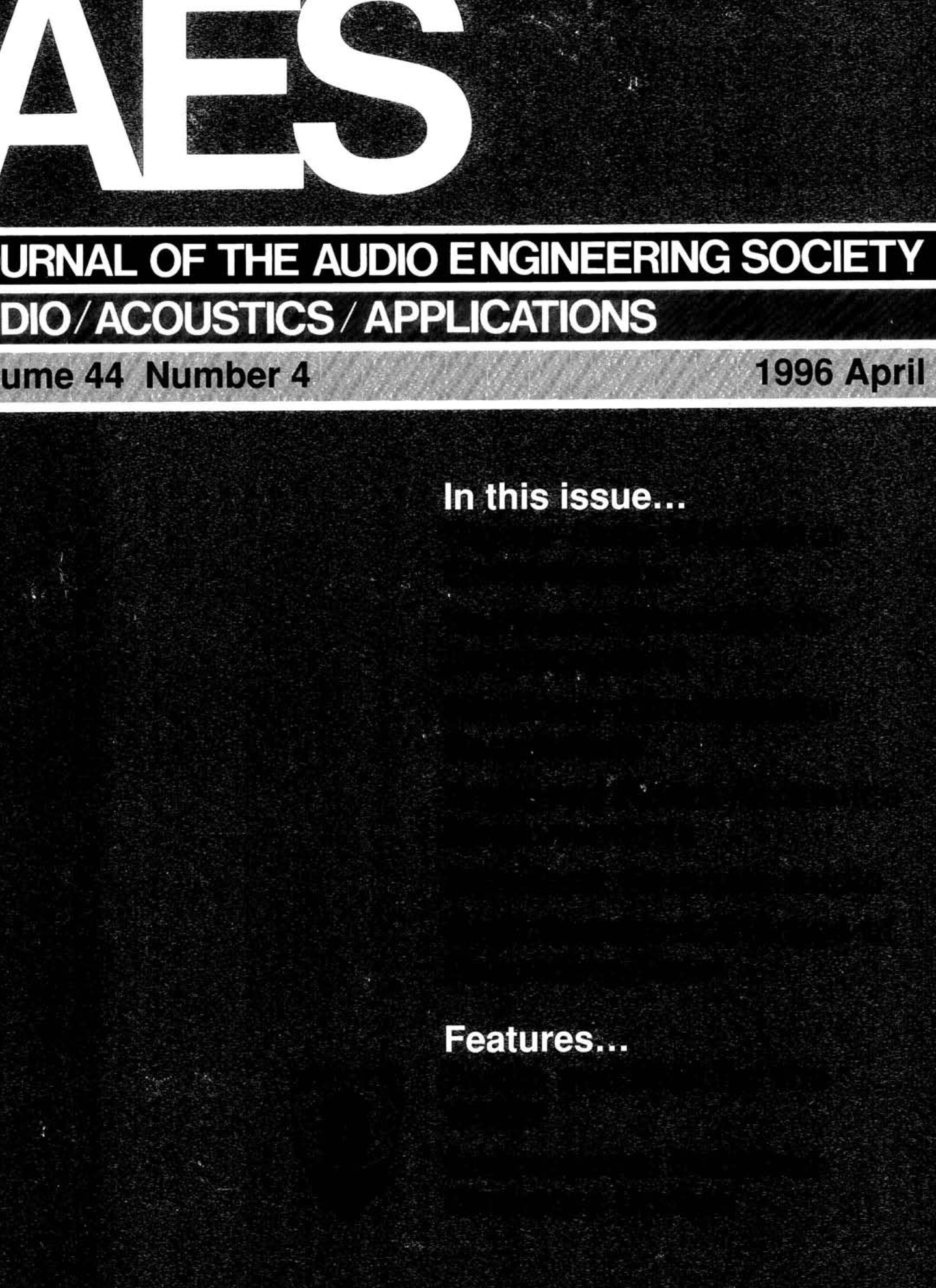 AES E Library Complete Journal Volume