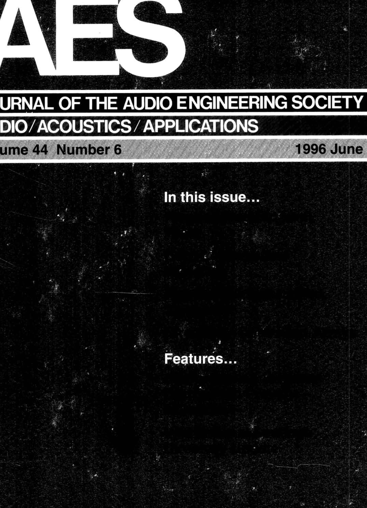 0d5fbddda7113 AES E-Library » Complete Journal  Volume 44 Issue 6