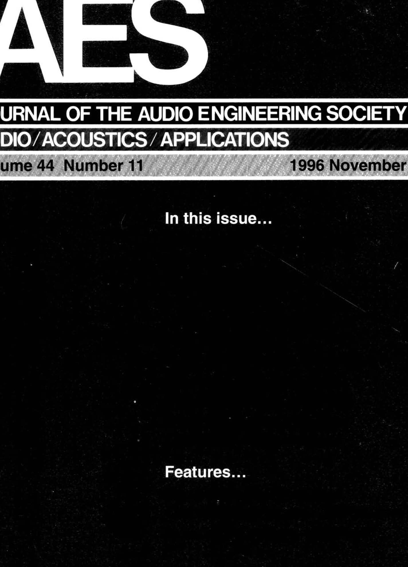 AES E-Library » Complete Journal: Volume 44 Issue 11