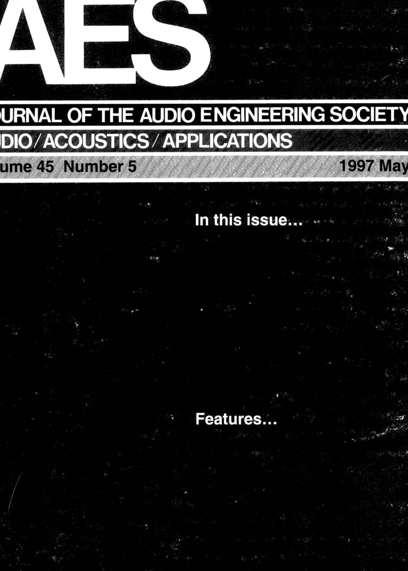 aes e library complete journal volume 45 issue 5