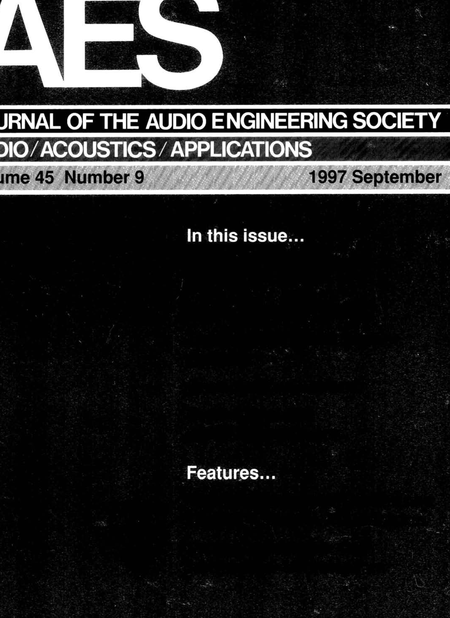AES E-Library » Complete Journal: Volume 45 Issue 9