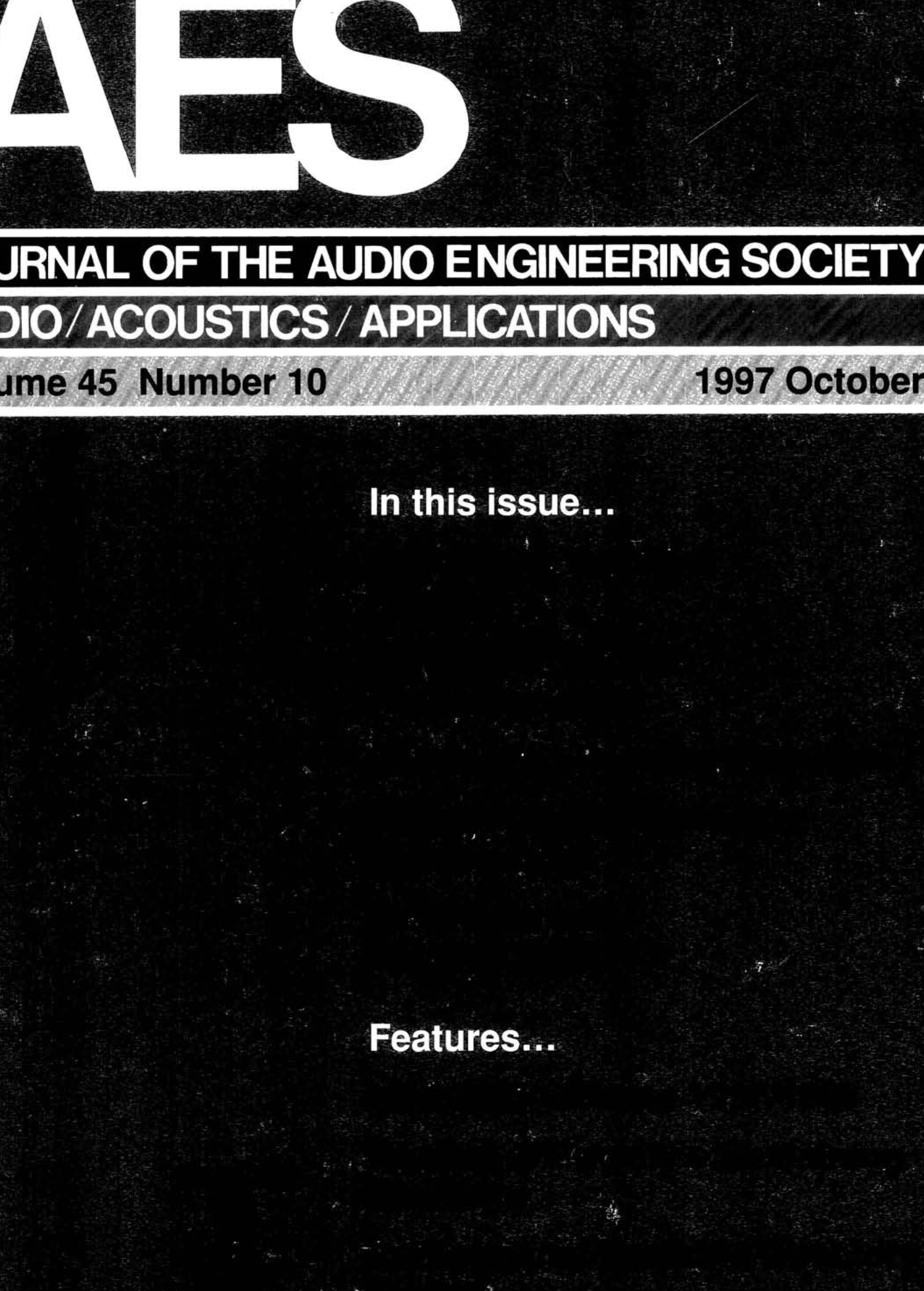Aes E Library Complete Journal Volume 45 Issue 10 Free Information Society Geiger Counter Electronic Circuit Schematic