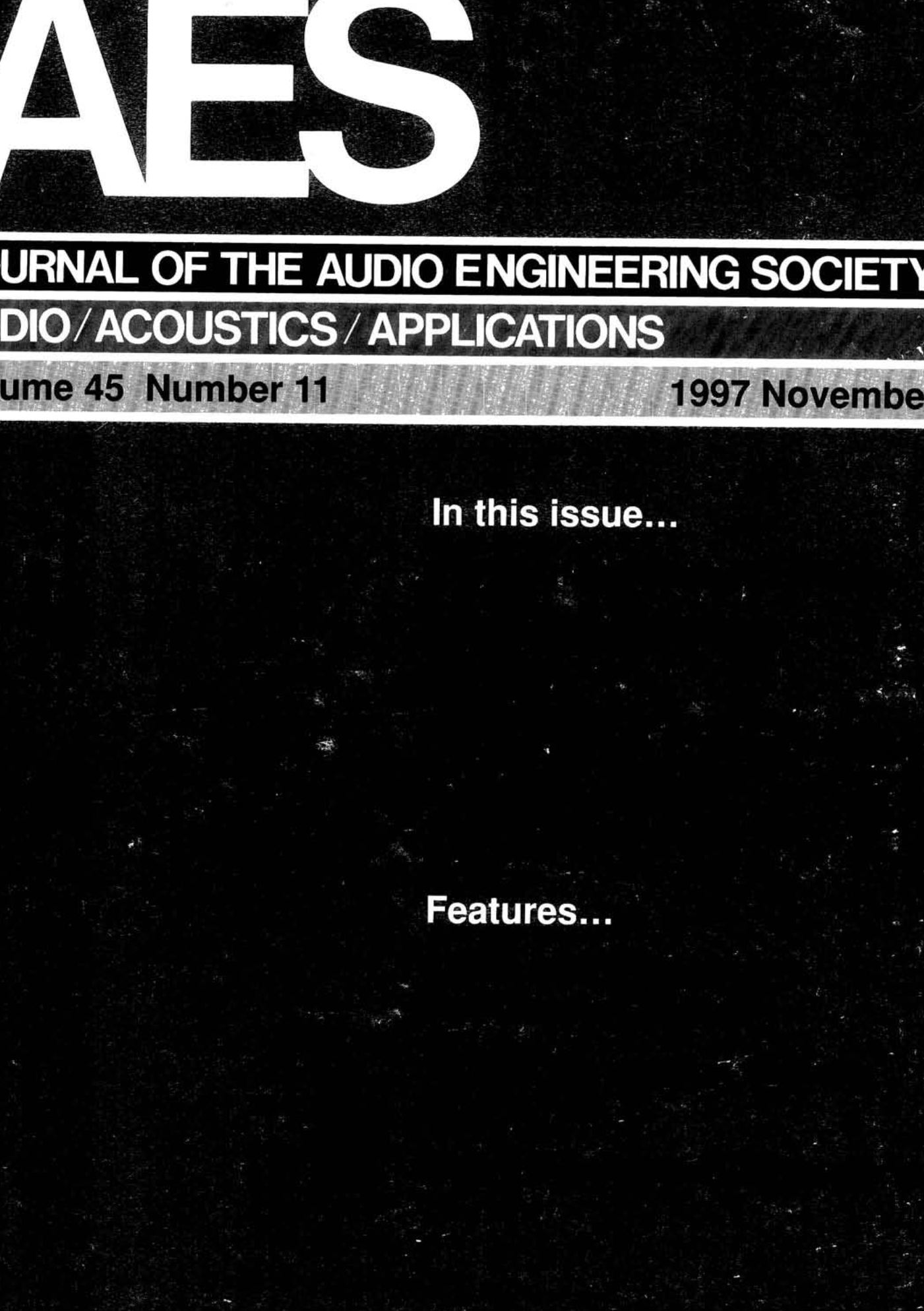 AES E-Library » Complete Journal: Volume 45 Issue 11