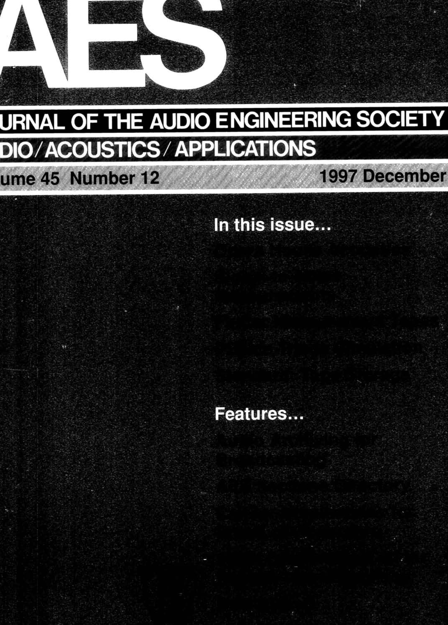 Aes E Library Complete Journal Volume 45 Issue 12 3300 International Fuse Box Diagram