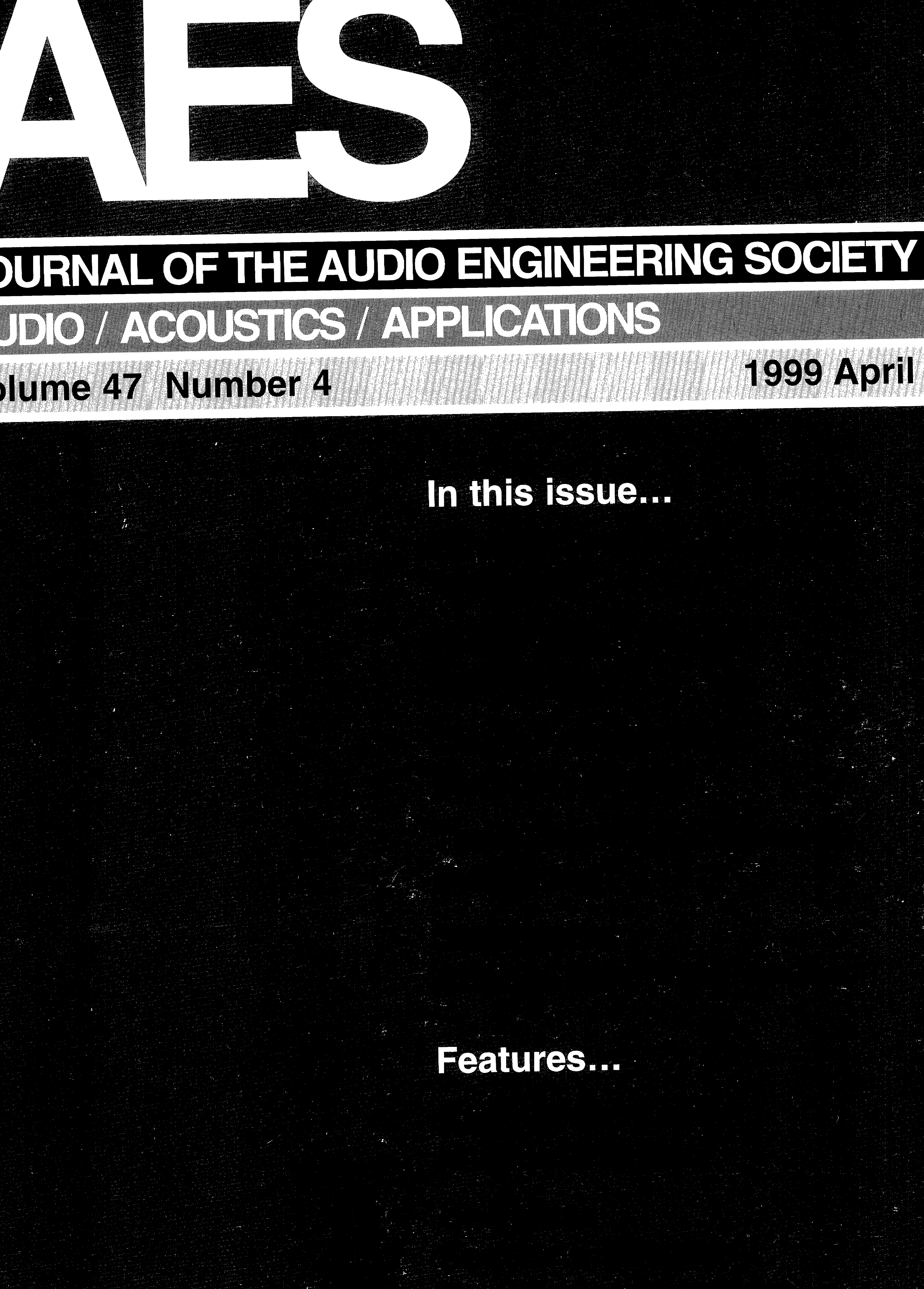 Aes E Library Complete Journal Volume 47 Issue 4 Instructional Pamphlet On Sailing Forums Off Topic Forum