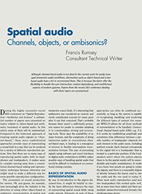 AES Journal Forum » Spatial Audio: Channels, Objects, and