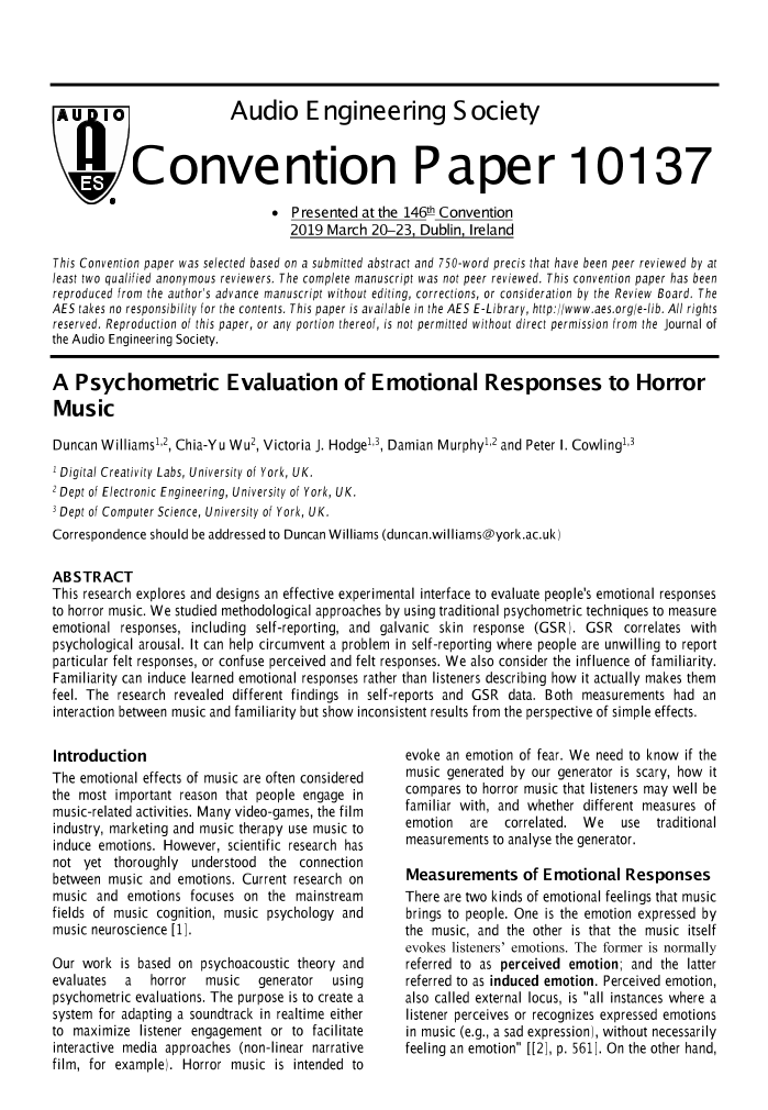 AES E-Library » A Psychometric Evaluation of Emotional